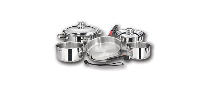 Magma Products A10-360L-IND Cookware Set Professional Series Stainless Steel